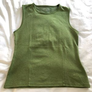 Green workout top